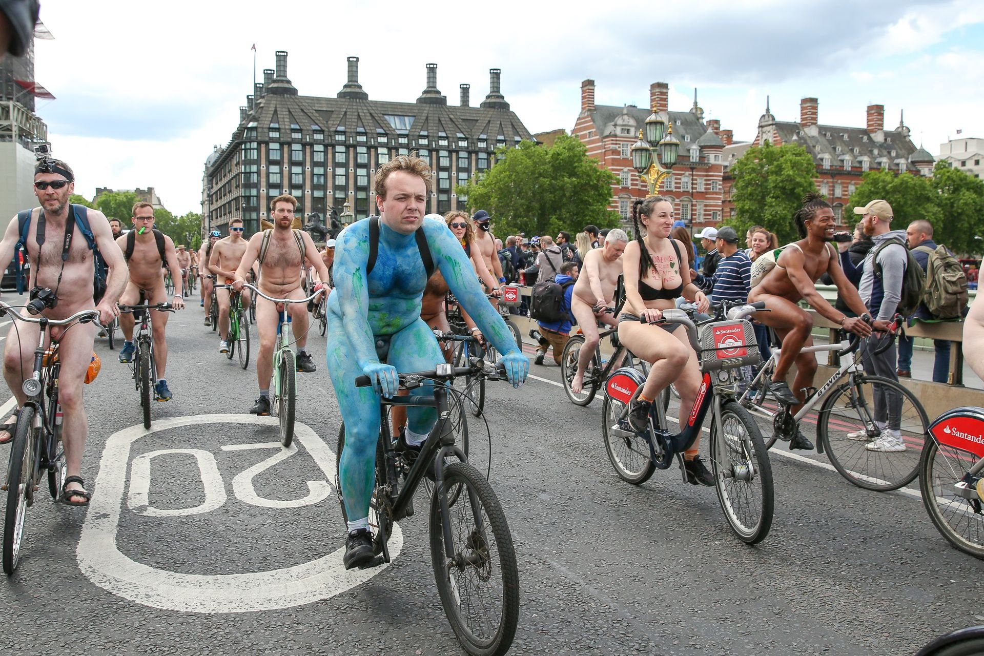 Hot Bike London Nude Ride Pics