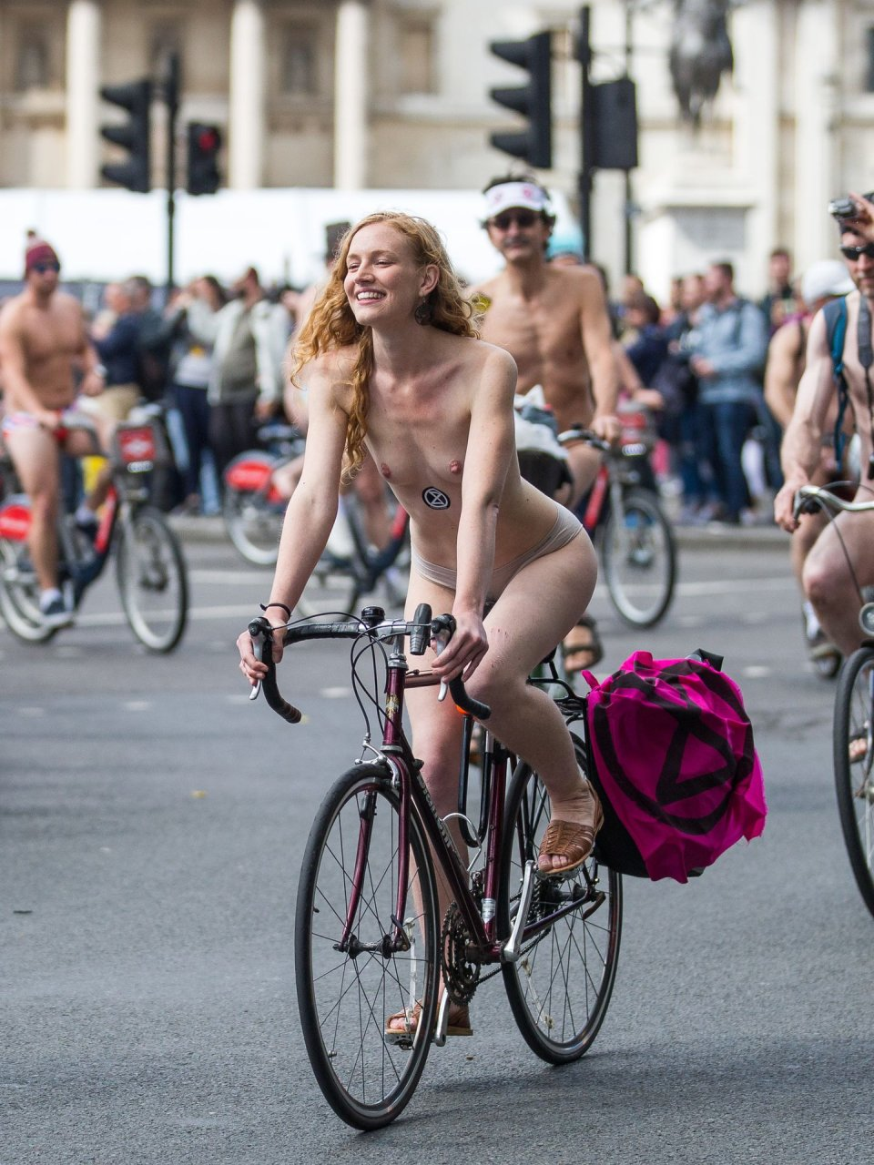 naked girls on bikes riding
