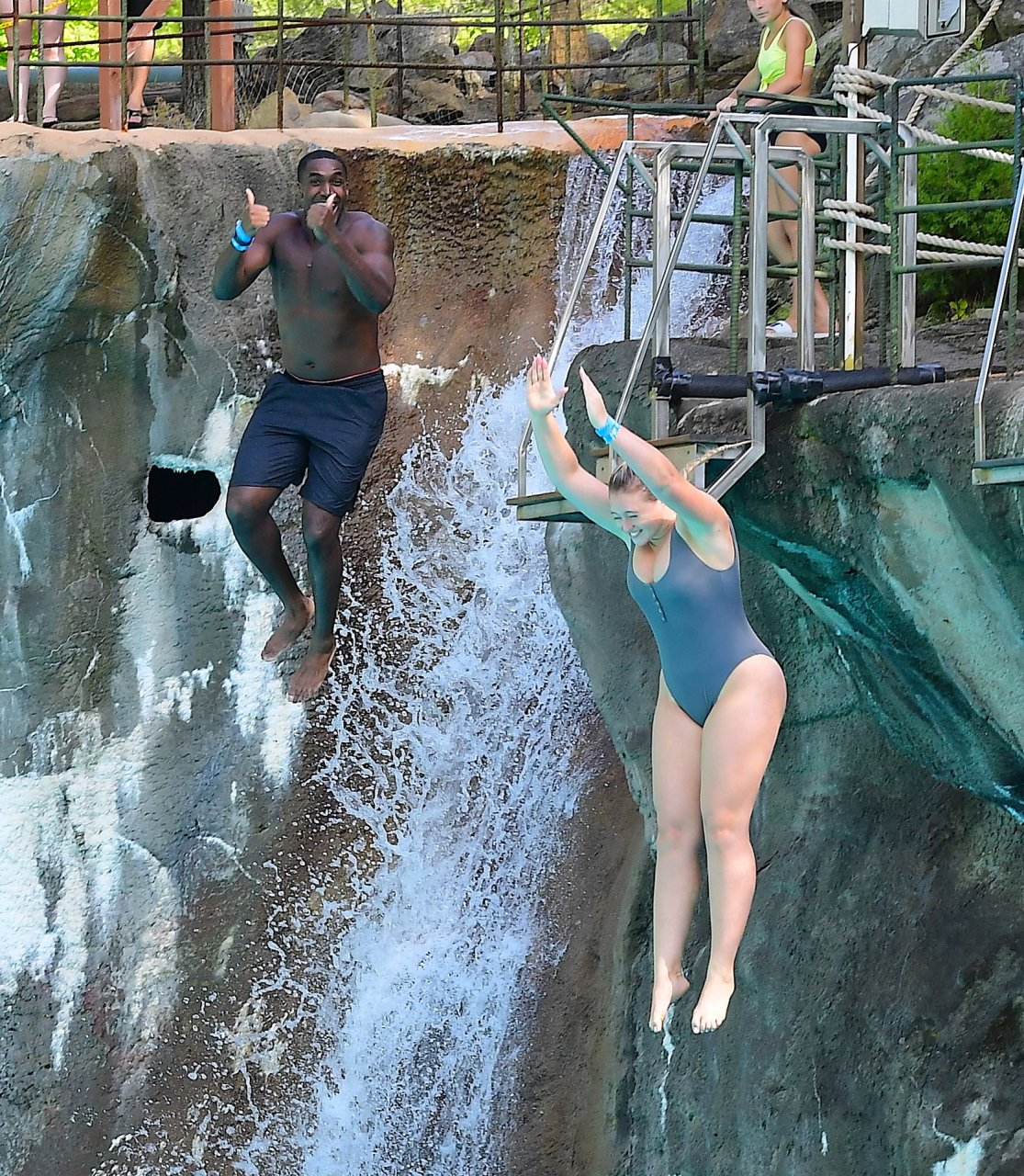 Iskra Lawrence enjoying some rare time off as she visited Mountain Creek Water Park in New Jersey 2-9-2019