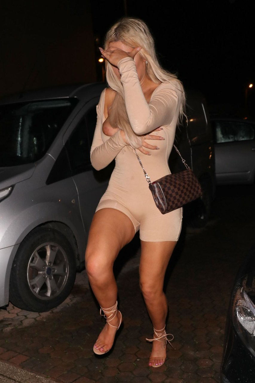 Chloe Ferry – nipple slip at CHAK 89 in London, 17-10-2019