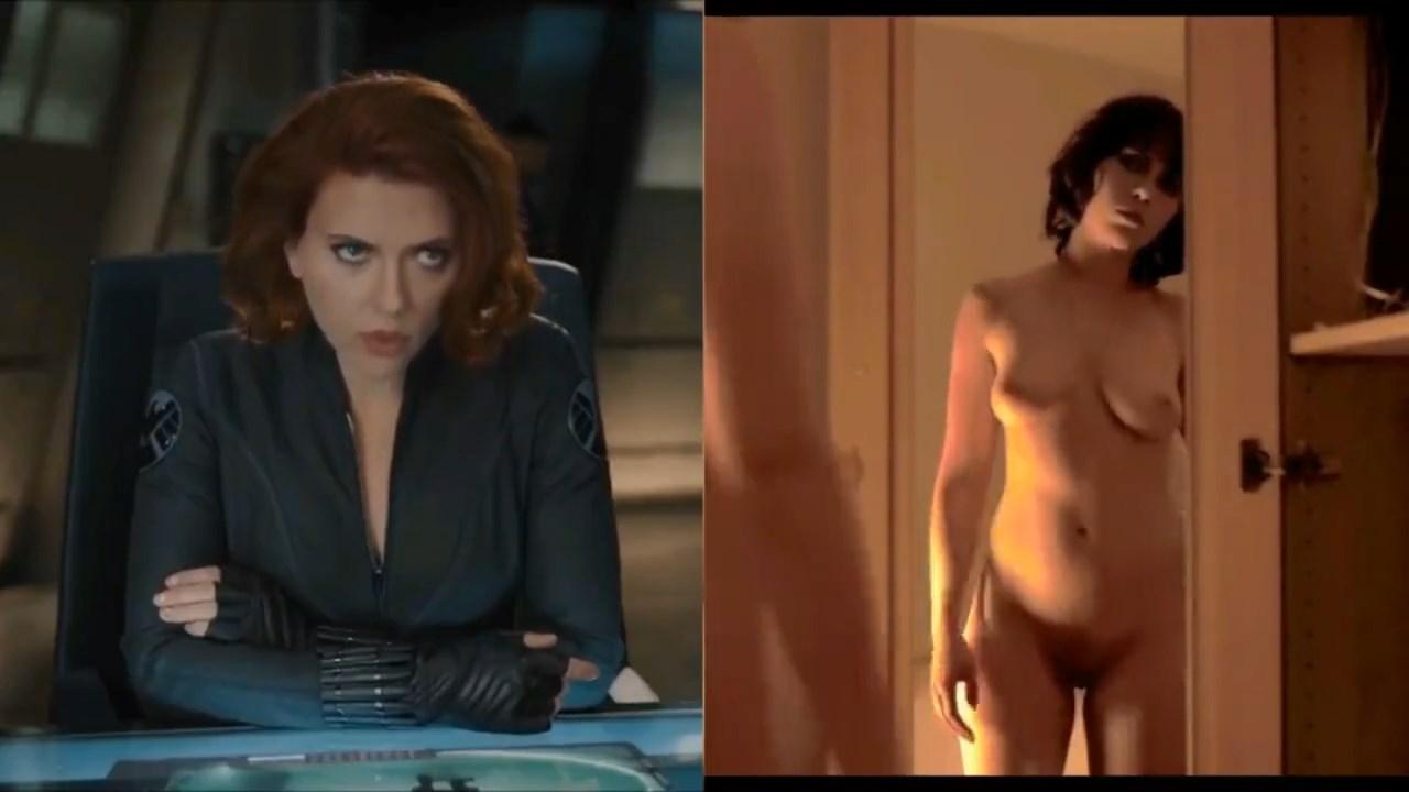 Black Widow Porn Video superheros: dressed vs. undressed (37 pics + video