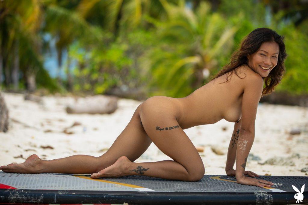 Swimwear Naked Woman Waving Pic