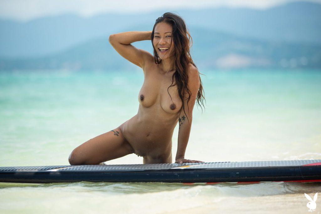 Maki Katana Nude – Catching a Wave (34 Photos + GIFs & Video)