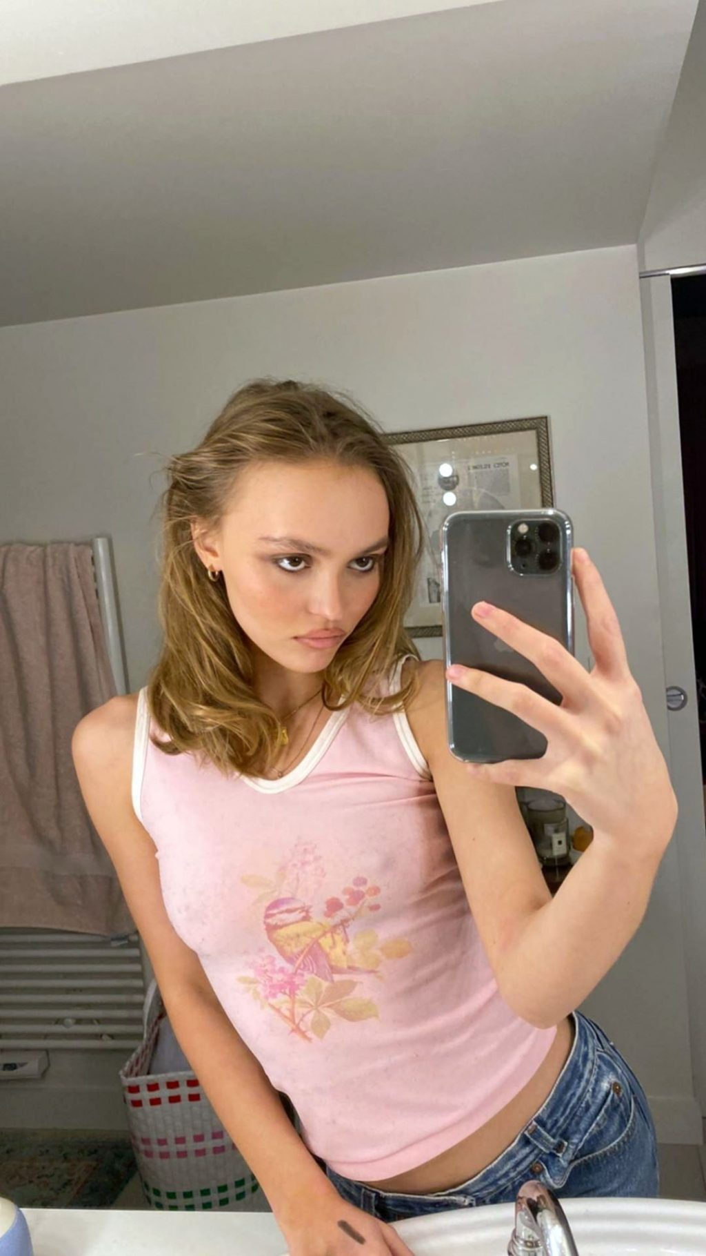 Lily-Rose Depp Braless (1 Photo)
