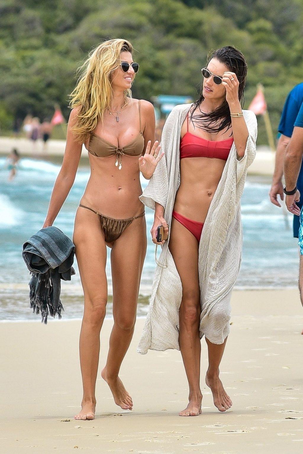 Alessandra Ambrosio Stuns in a Red Bikini (37 Photos)