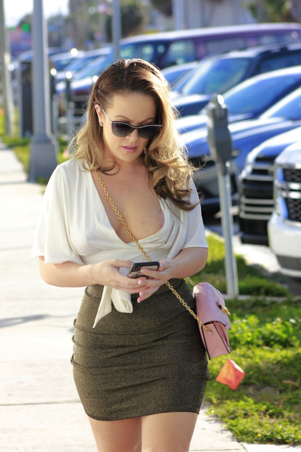 Carmen Valentina Barely Contains Her Curves Out And About In LA (11 Photos)