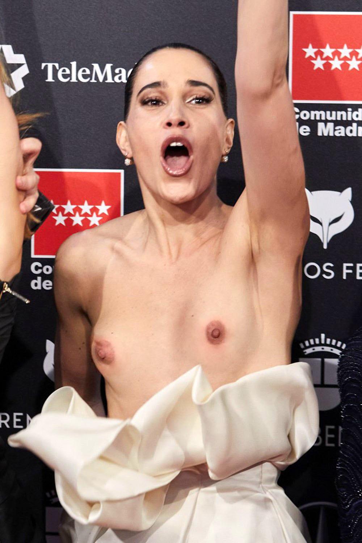 Celia Freijeiro Goes Nude on the Red Carpet (3 Photos)