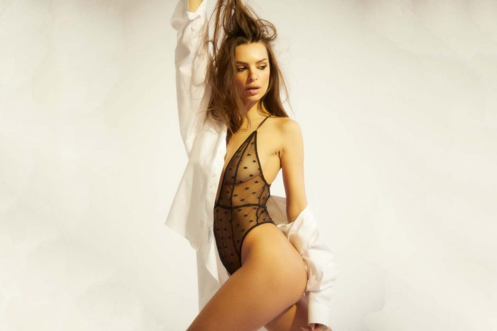 Emily Ratajkowski Shows Off Her Tits For a New Lingerie Brand (9 Photos + Video)