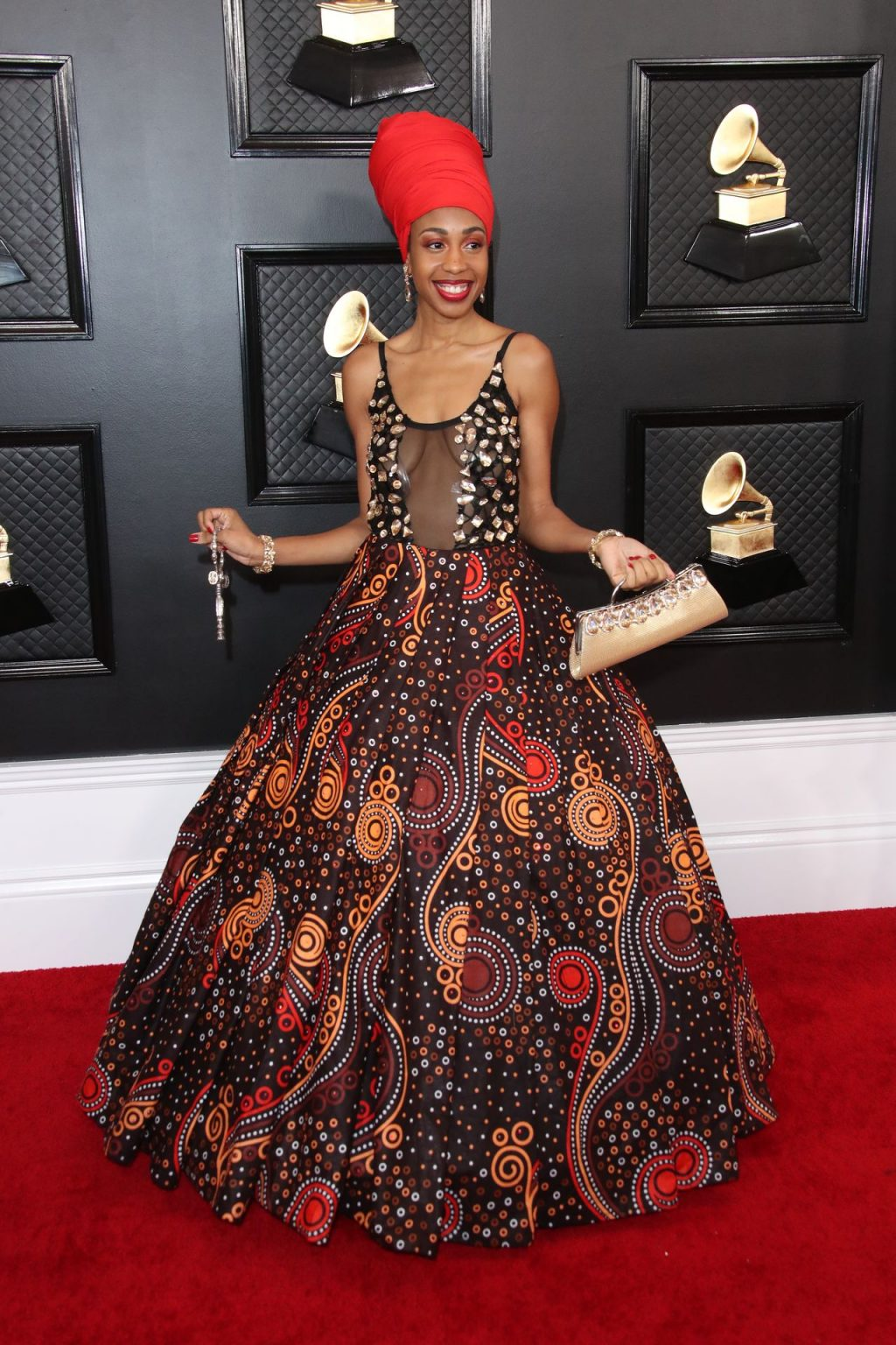 Jazzmeia Horn Displays Her Tits at the 62nd annual GRAMMY Awards (3 Photos)