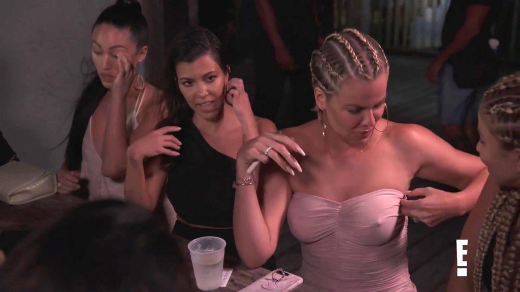 Khloé Kardashian Gets a Little Cold Without a Bra (24 Pics + Video)