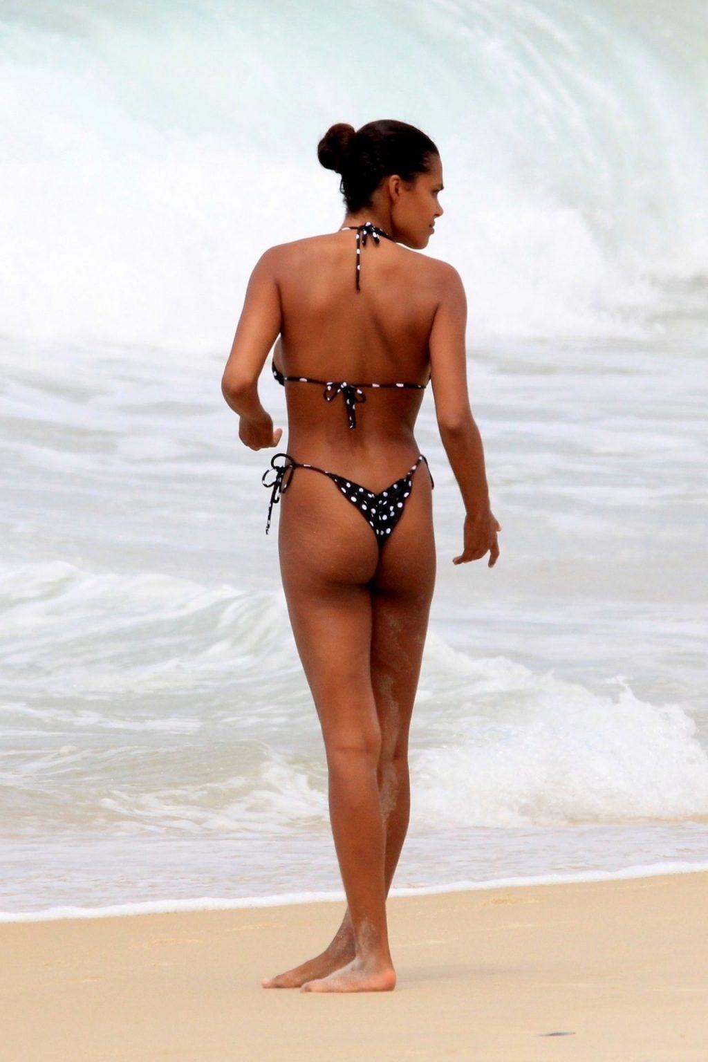 Tina Kunakey Nearly Nip Slip While Frolicking on the Beach in Rio (73 Photos)