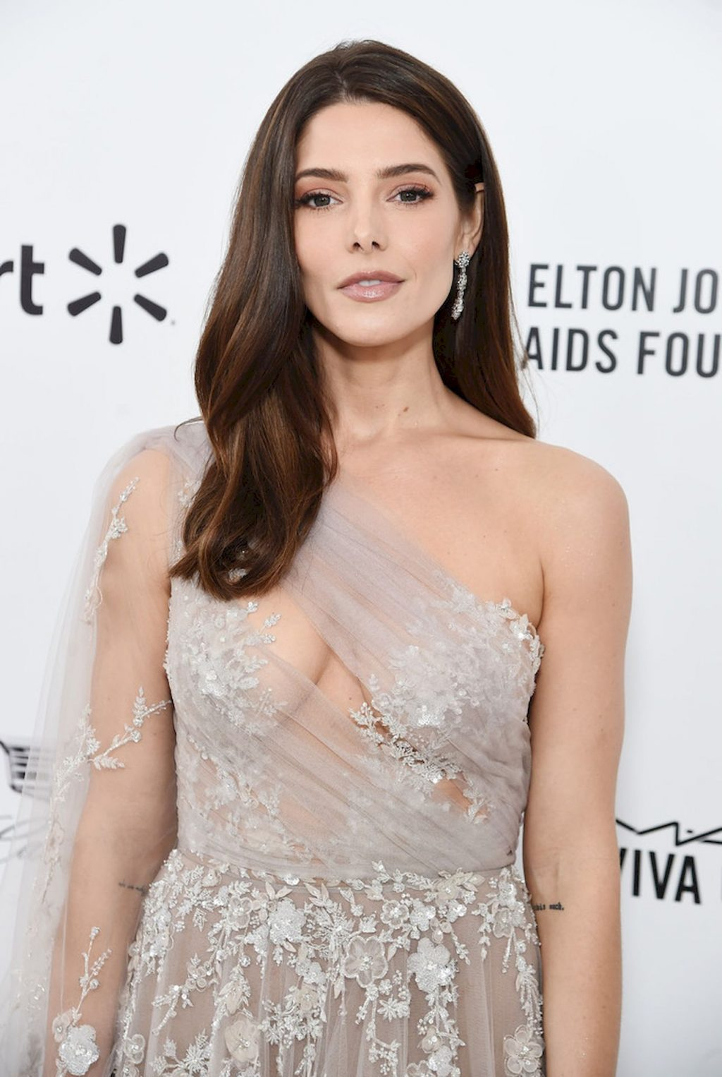 Ashley Greene Shows Her Tits at the Elton John AIDS Foundation Academy Awards Party (21 Photos)