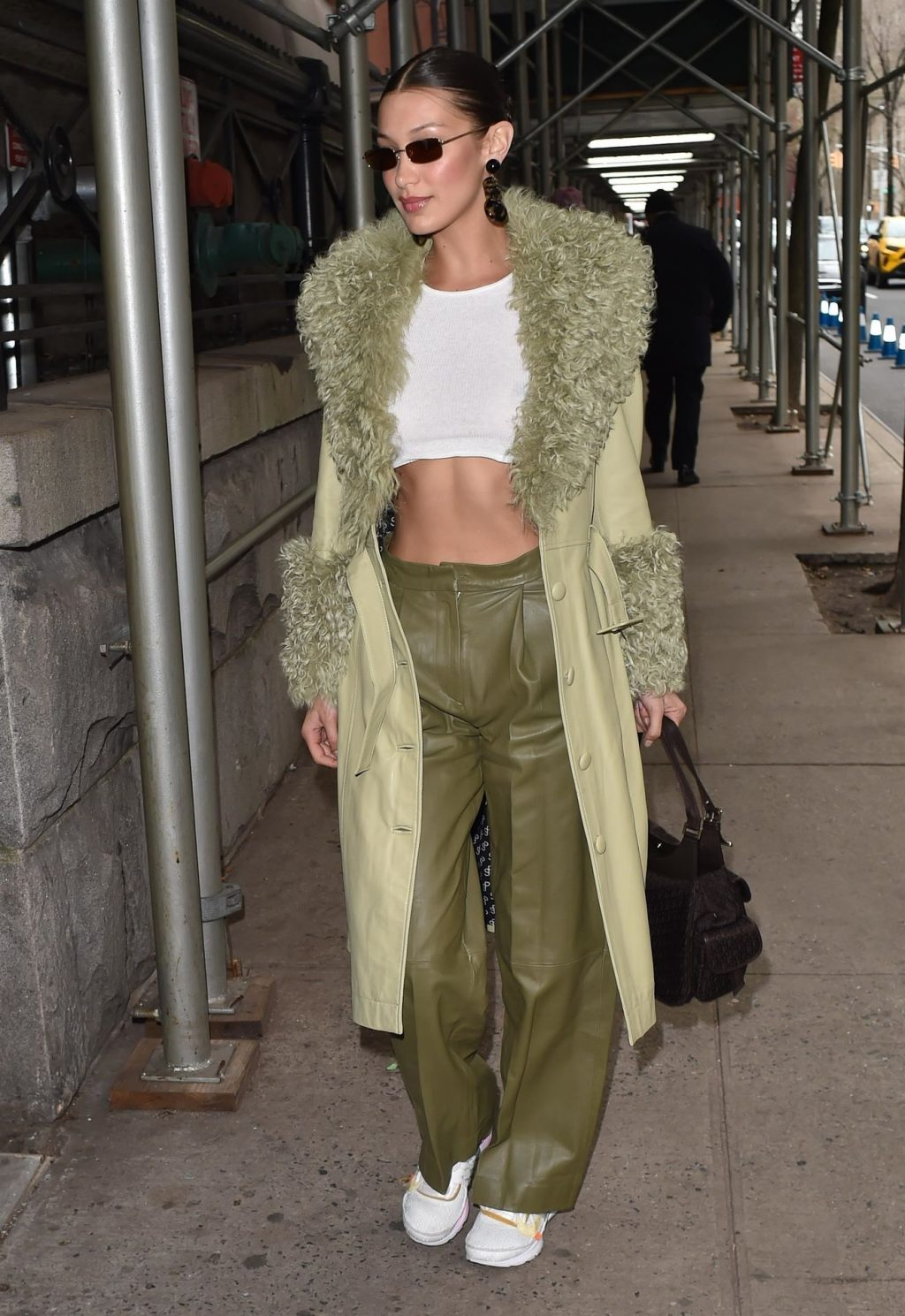 Bella Hadid See through The Fappening Blog 10 1024x1489 - Braless Bella Hadid Arrives at the Park Avenue Armory for the Marc Jacobs Fashion Show (59 Photos)