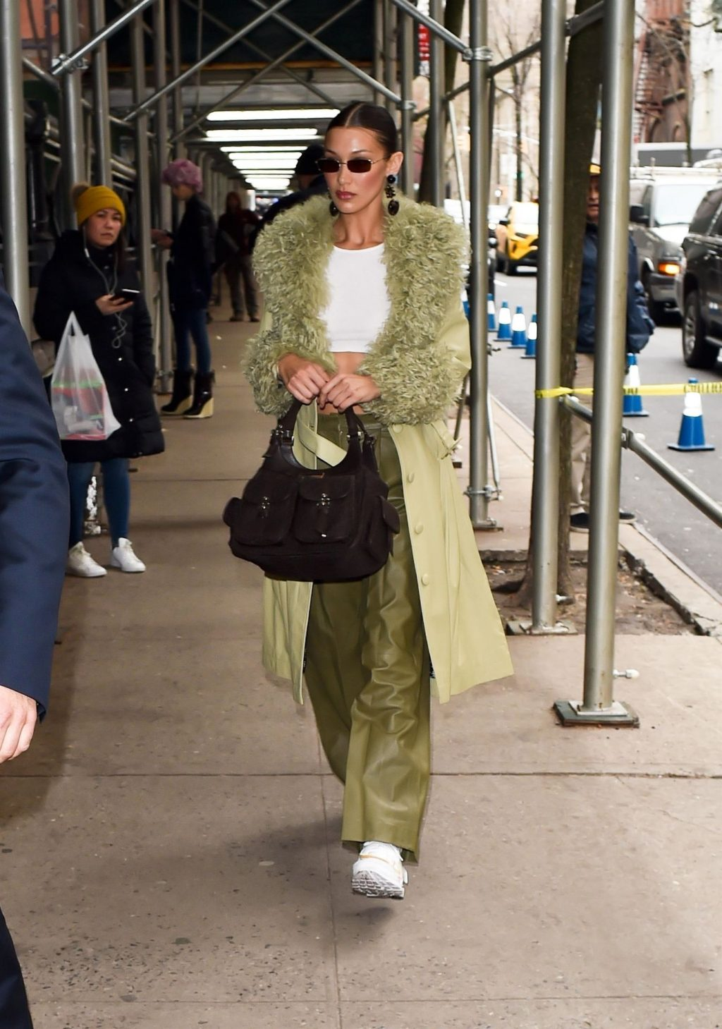 Bella Hadid See through The Fappening Blog 11 1024x1459 - Braless Bella Hadid Arrives at the Park Avenue Armory for the Marc Jacobs Fashion Show (59 Photos)