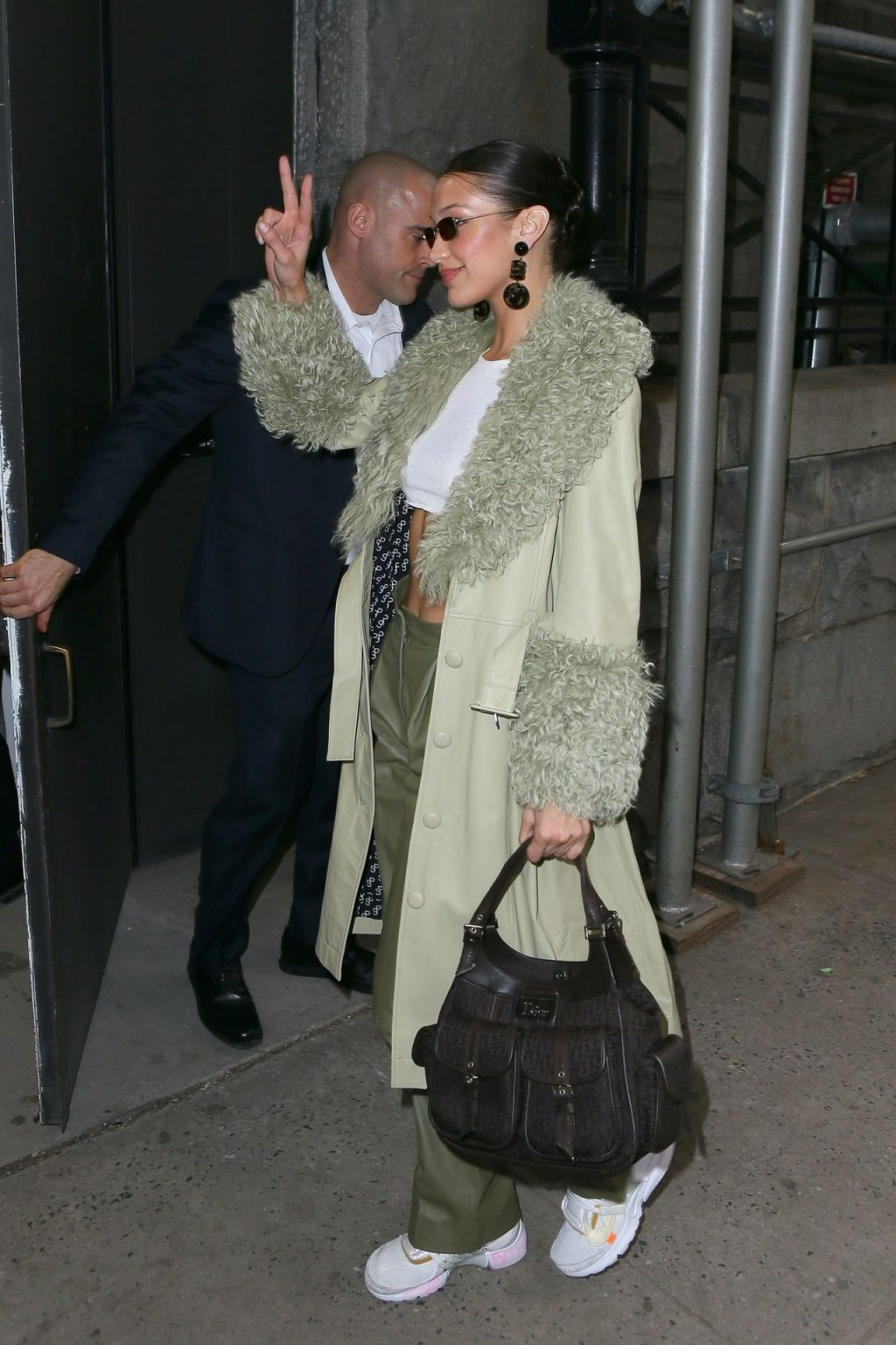 Bella Hadid See through The Fappening Blog 14 1024x1536 - Braless Bella Hadid Arrives at the Park Avenue Armory for the Marc Jacobs Fashion Show (59 Photos)