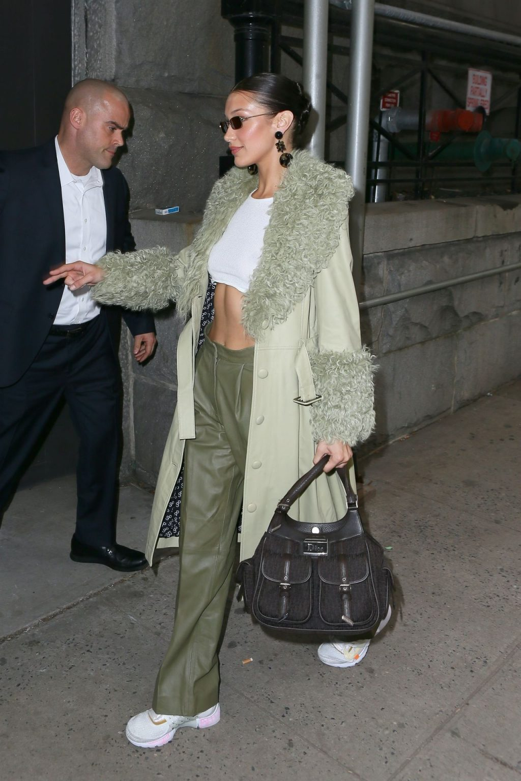 Bella Hadid See through The Fappening Blog 16 1024x1536 - Braless Bella Hadid Arrives at the Park Avenue Armory for the Marc Jacobs Fashion Show (59 Photos)