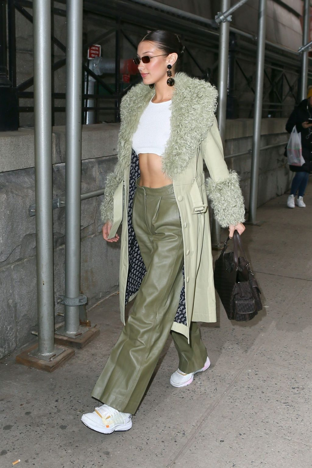 Bella Hadid See through The Fappening Blog 17 1024x1536 - Braless Bella Hadid Arrives at the Park Avenue Armory for the Marc Jacobs Fashion Show (59 Photos)