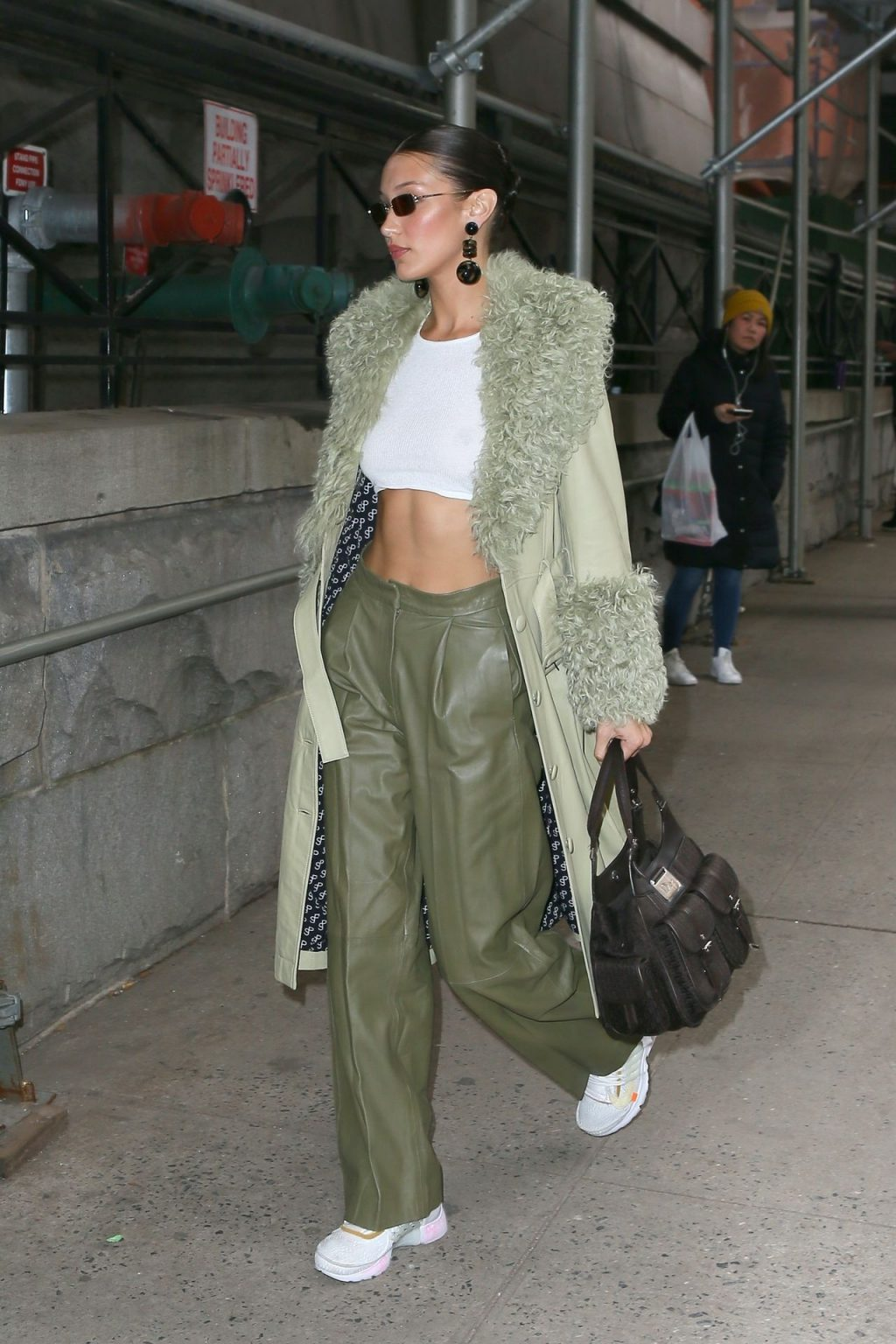 Bella Hadid See through The Fappening Blog 18 1024x1536 - Braless Bella Hadid Arrives at the Park Avenue Armory for the Marc Jacobs Fashion Show (59 Photos)