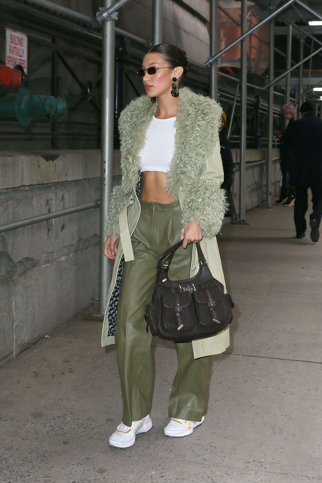Bella Hadid See through The Fappening Blog 20 1024x1536 - Braless Bella Hadid Arrives at the Park Avenue Armory for the Marc Jacobs Fashion Show (59 Photos)