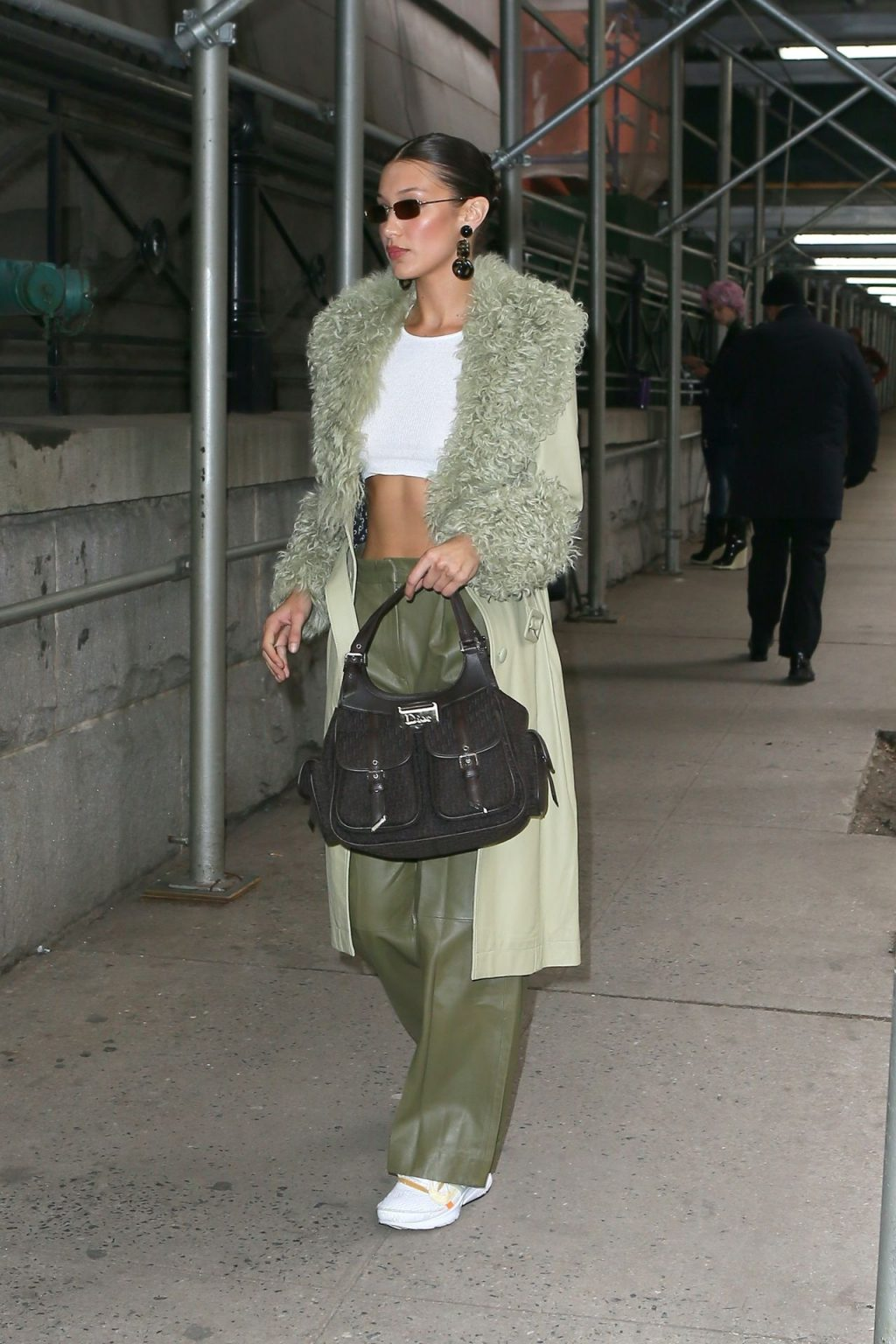 Bella Hadid See through The Fappening Blog 21 1024x1536 - Braless Bella Hadid Arrives at the Park Avenue Armory for the Marc Jacobs Fashion Show (59 Photos)