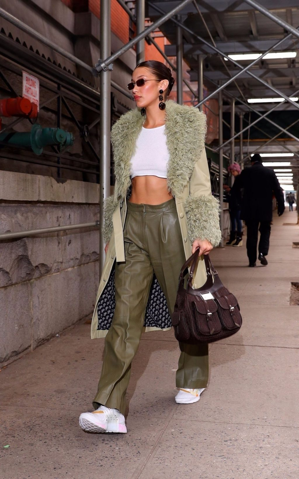 Bella Hadid See through The Fappening Blog 22 1024x1638 - Braless Bella Hadid Arrives at the Park Avenue Armory for the Marc Jacobs Fashion Show (59 Photos)