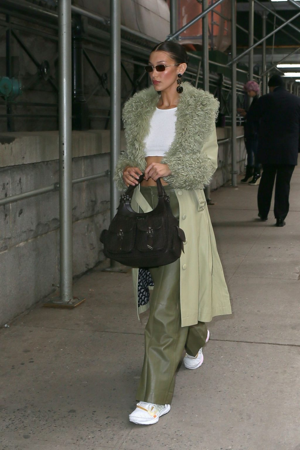 Bella Hadid See through The Fappening Blog 23 1024x1536 - Braless Bella Hadid Arrives at the Park Avenue Armory for the Marc Jacobs Fashion Show (59 Photos)