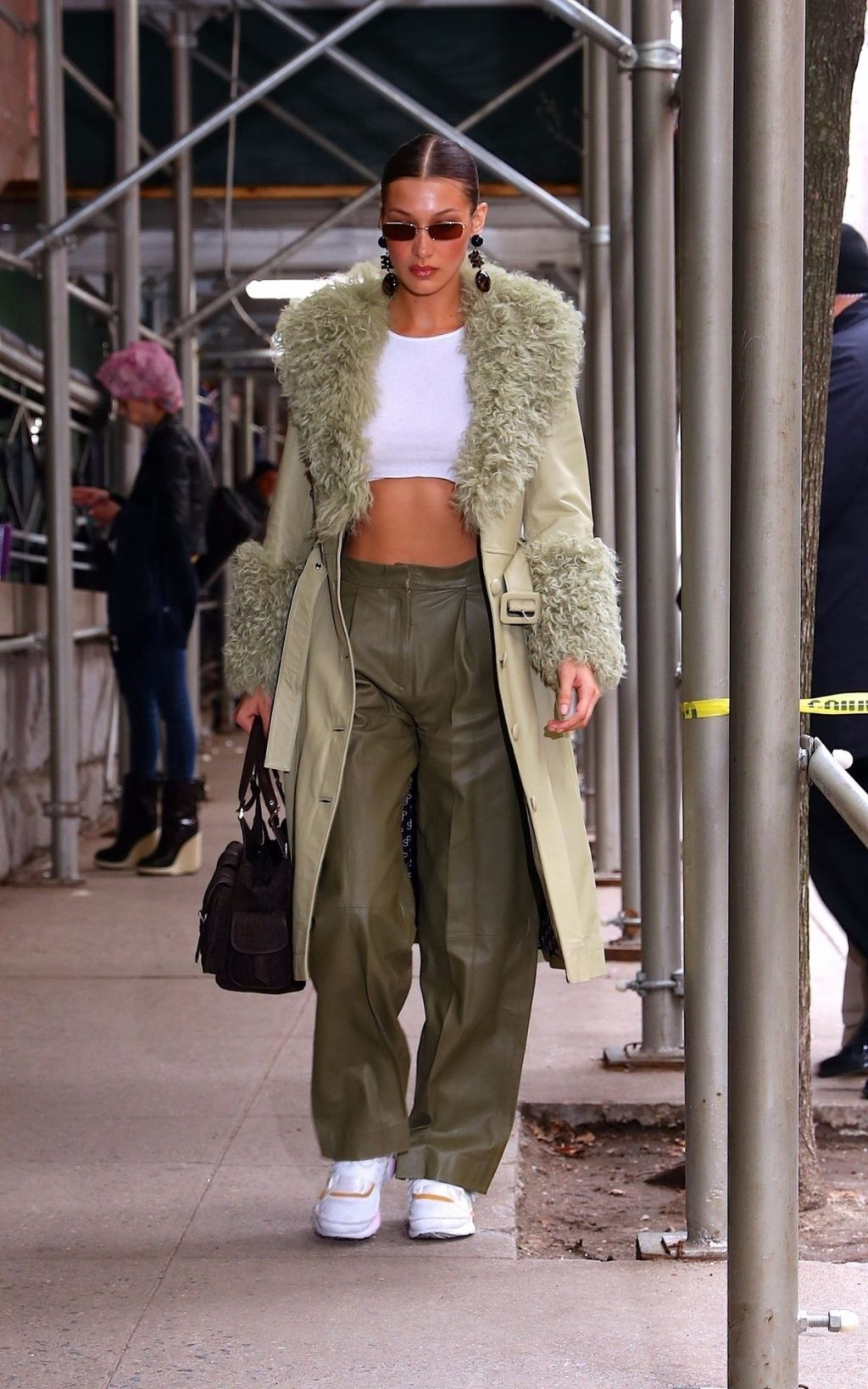 Bella Hadid See through The Fappening Blog 25 1024x1638 - Braless Bella Hadid Arrives at the Park Avenue Armory for the Marc Jacobs Fashion Show (59 Photos)