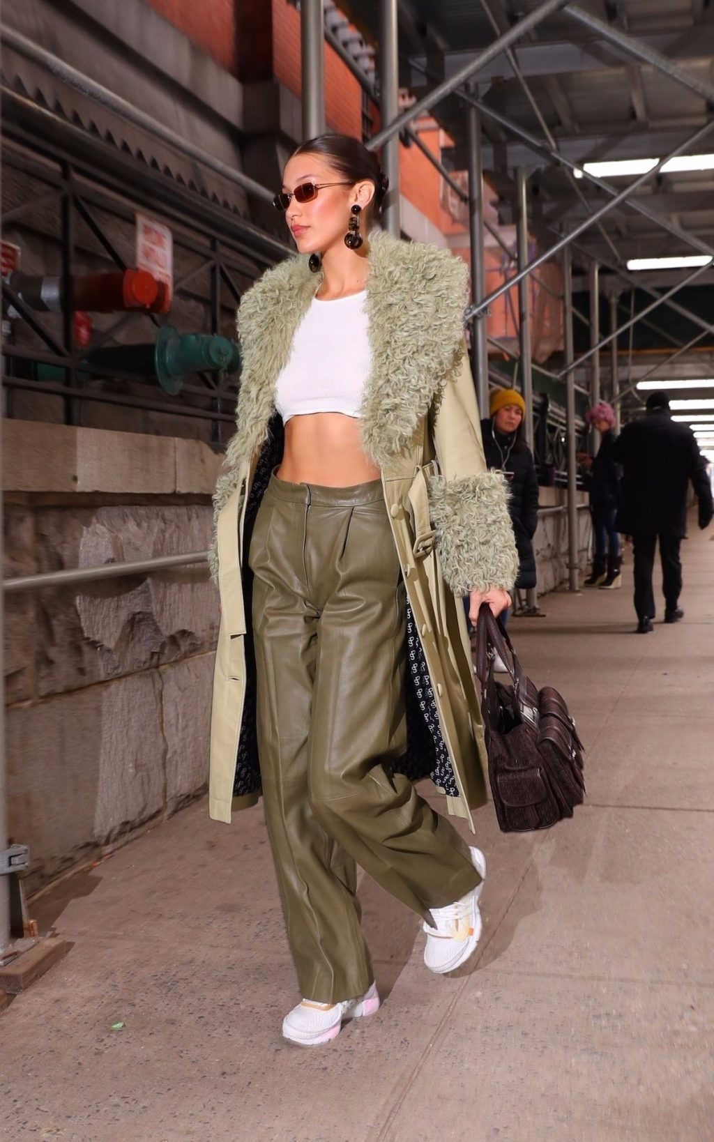 Bella Hadid See through The Fappening Blog 28 1024x1638 - Braless Bella Hadid Arrives at the Park Avenue Armory for the Marc Jacobs Fashion Show (59 Photos)