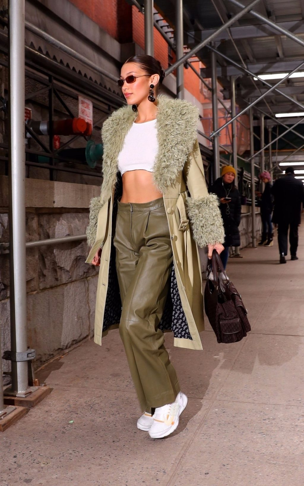 Bella Hadid See through The Fappening Blog 29 1024x1638 - Braless Bella Hadid Arrives at the Park Avenue Armory for the Marc Jacobs Fashion Show (59 Photos)