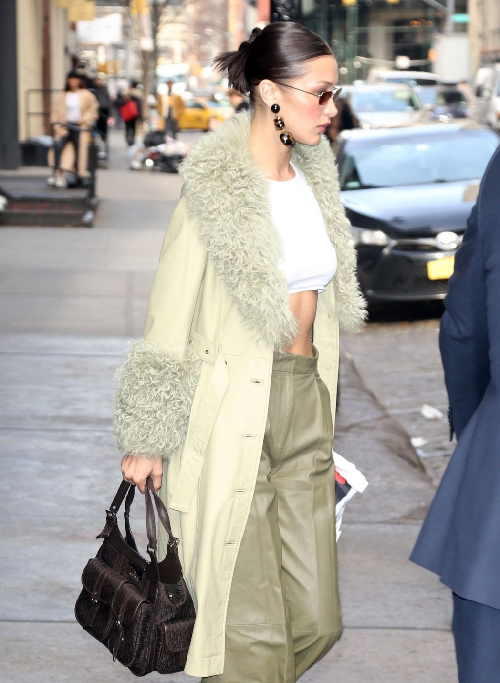 Bella Hadid See through The Fappening Blog 33 1024x1399 - Braless Bella Hadid Arrives at the Park Avenue Armory for the Marc Jacobs Fashion Show (59 Photos)