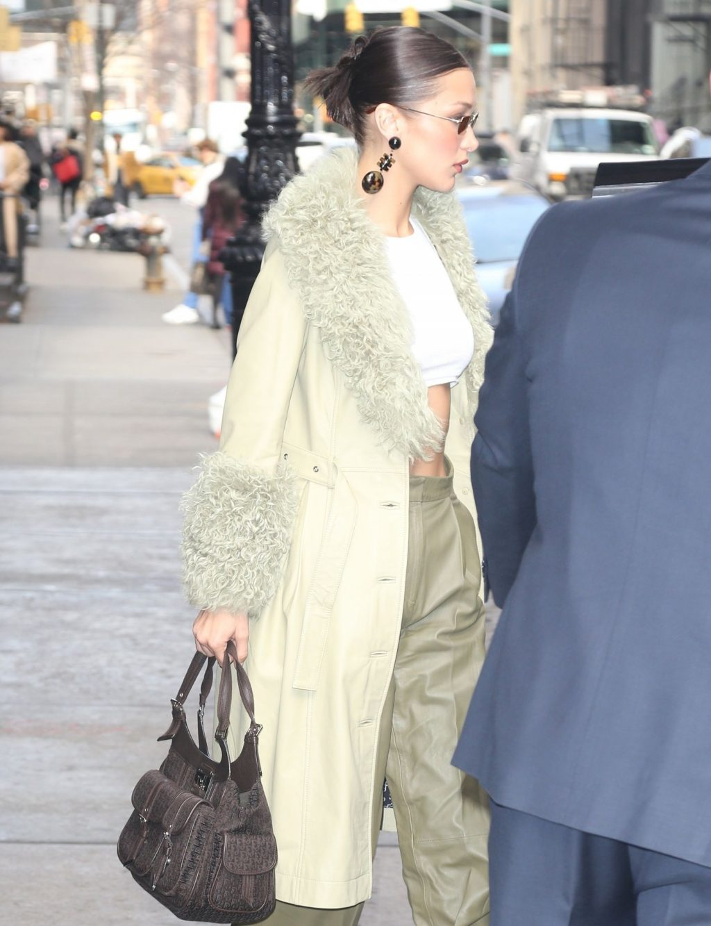 Bella Hadid See through The Fappening Blog 34 1024x1333 - Braless Bella Hadid Arrives at the Park Avenue Armory for the Marc Jacobs Fashion Show (59 Photos)