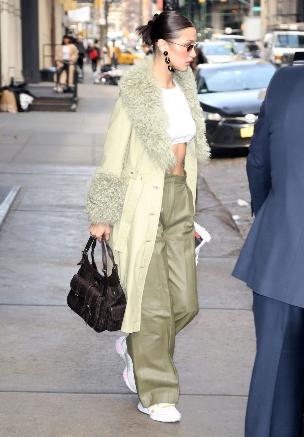 Bella Hadid See through The Fappening Blog 35 1024x1475 - Braless Bella Hadid Arrives at the Park Avenue Armory for the Marc Jacobs Fashion Show (59 Photos)