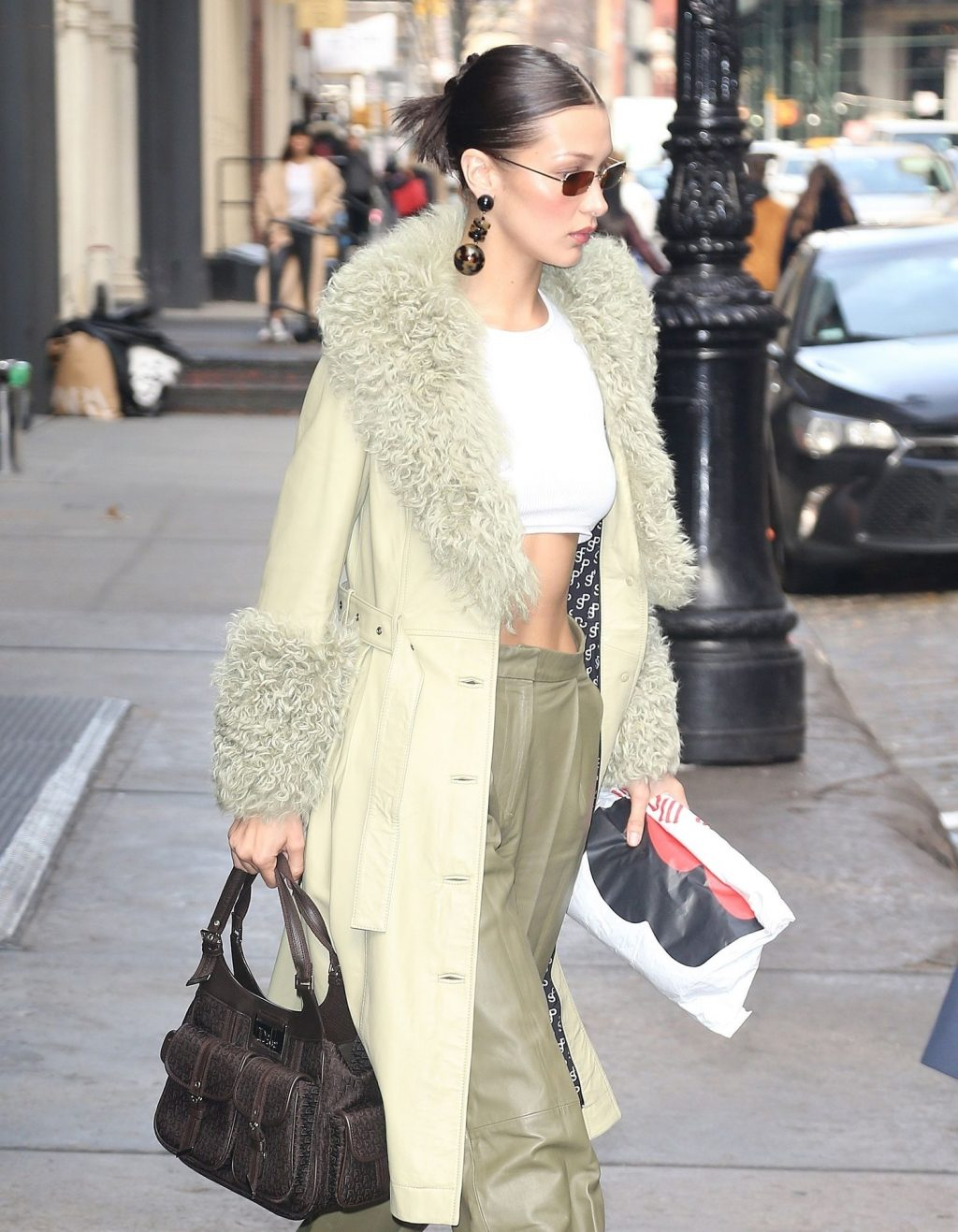 Bella Hadid See through The Fappening Blog 36 1024x1317 - Braless Bella Hadid Arrives at the Park Avenue Armory for the Marc Jacobs Fashion Show (59 Photos)