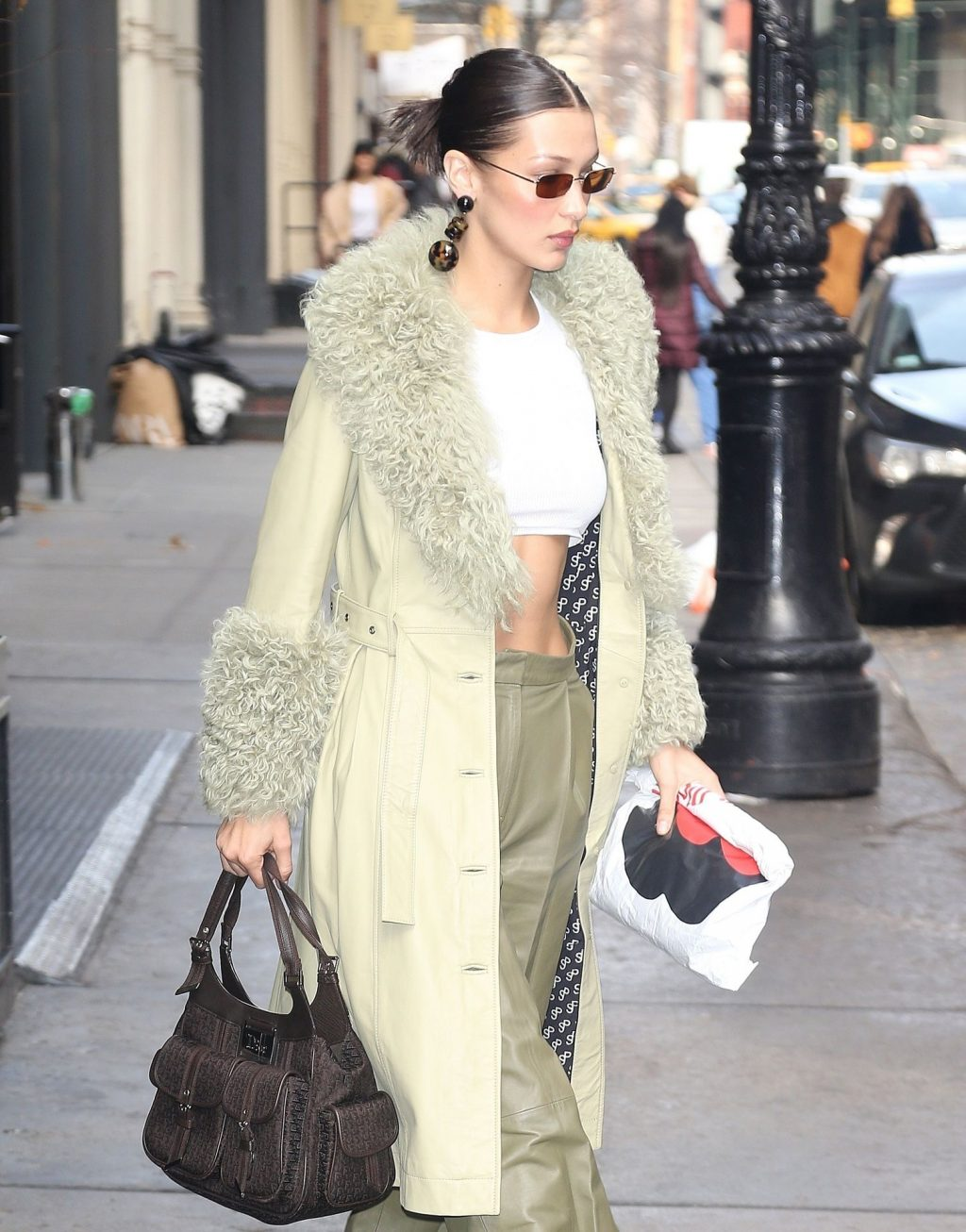 Bella Hadid See through The Fappening Blog 37 1024x1306 - Braless Bella Hadid Arrives at the Park Avenue Armory for the Marc Jacobs Fashion Show (59 Photos)
