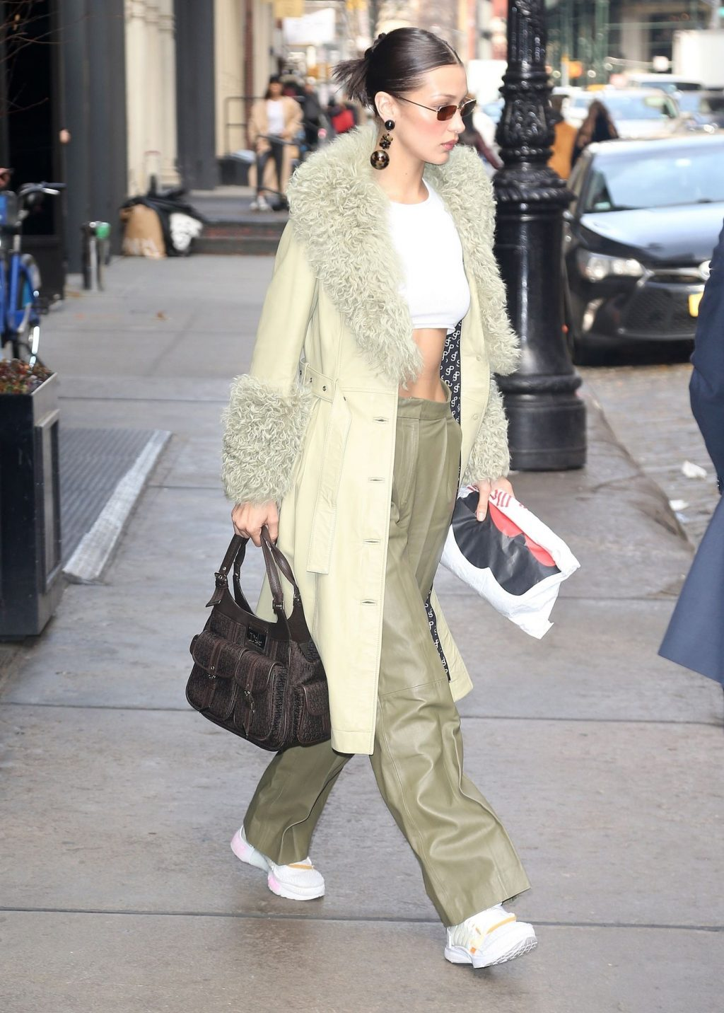 Bella Hadid See through The Fappening Blog 38 1024x1432 - Braless Bella Hadid Arrives at the Park Avenue Armory for the Marc Jacobs Fashion Show (59 Photos)