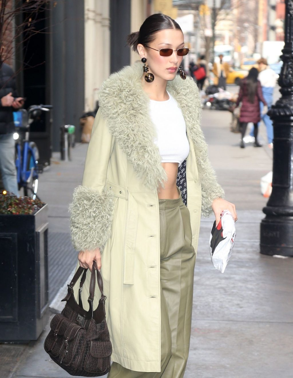 Bella Hadid See through The Fappening Blog 39 1024x1321 - Braless Bella Hadid Arrives at the Park Avenue Armory for the Marc Jacobs Fashion Show (59 Photos)