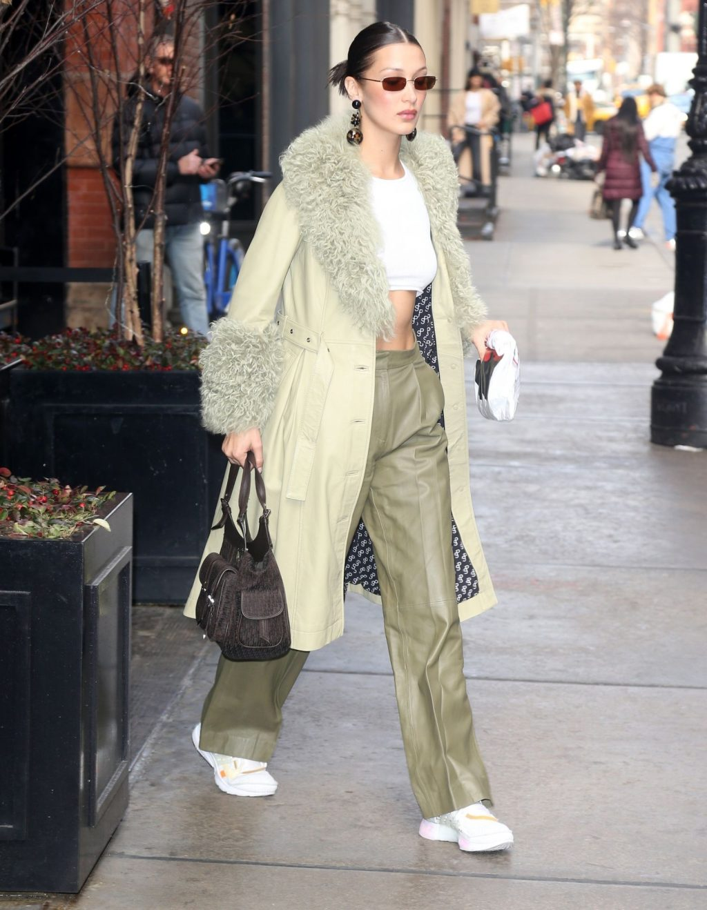 Bella Hadid See through The Fappening Blog 43 1024x1319 - Braless Bella Hadid Arrives at the Park Avenue Armory for the Marc Jacobs Fashion Show (59 Photos)