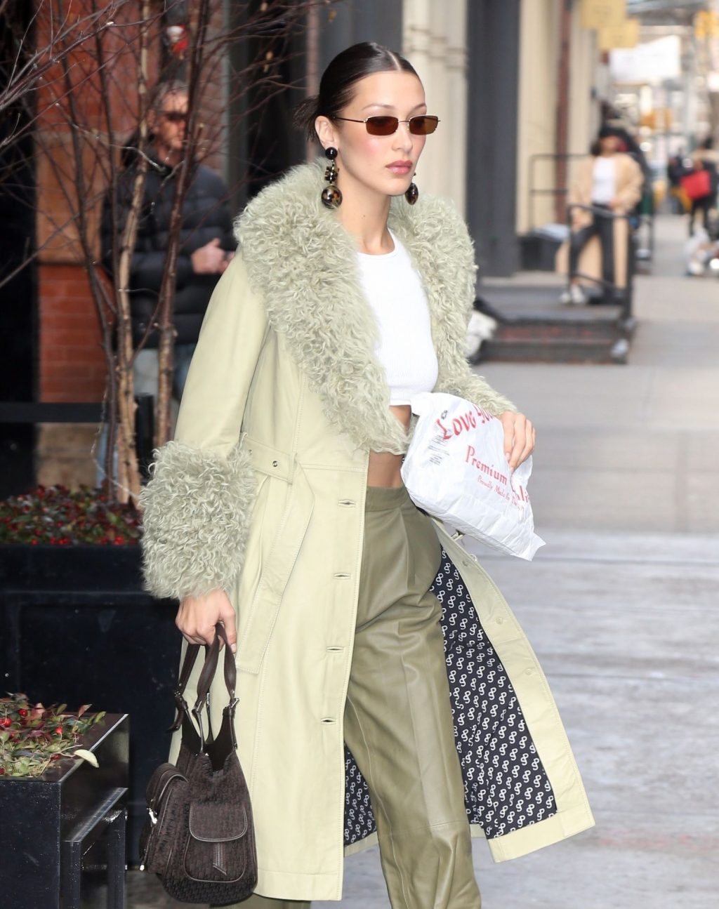 Bella Hadid See through The Fappening Blog 44 1024x1295 - Braless Bella Hadid Arrives at the Park Avenue Armory for the Marc Jacobs Fashion Show (59 Photos)