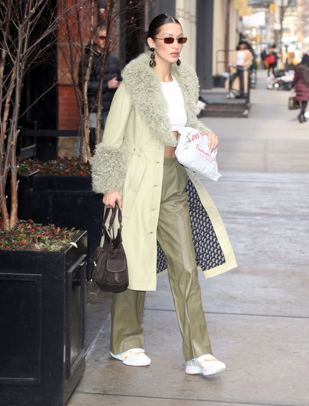 Bella Hadid See through The Fappening Blog 45 1024x1344 - Braless Bella Hadid Arrives at the Park Avenue Armory for the Marc Jacobs Fashion Show (59 Photos)