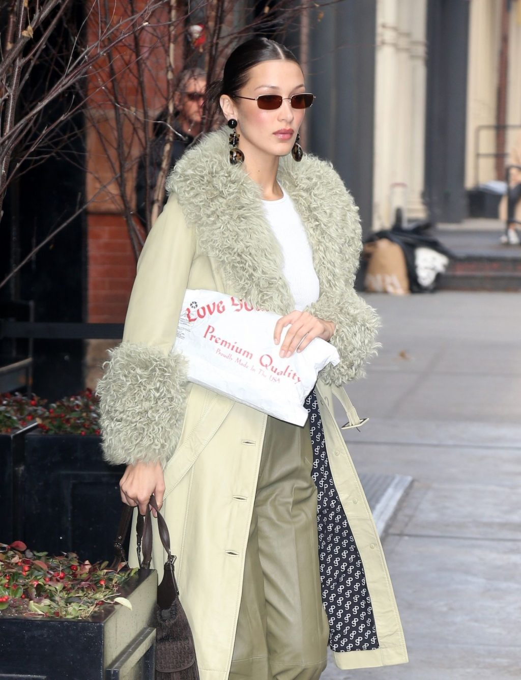 Bella Hadid See through The Fappening Blog 46 1024x1336 - Braless Bella Hadid Arrives at the Park Avenue Armory for the Marc Jacobs Fashion Show (59 Photos)