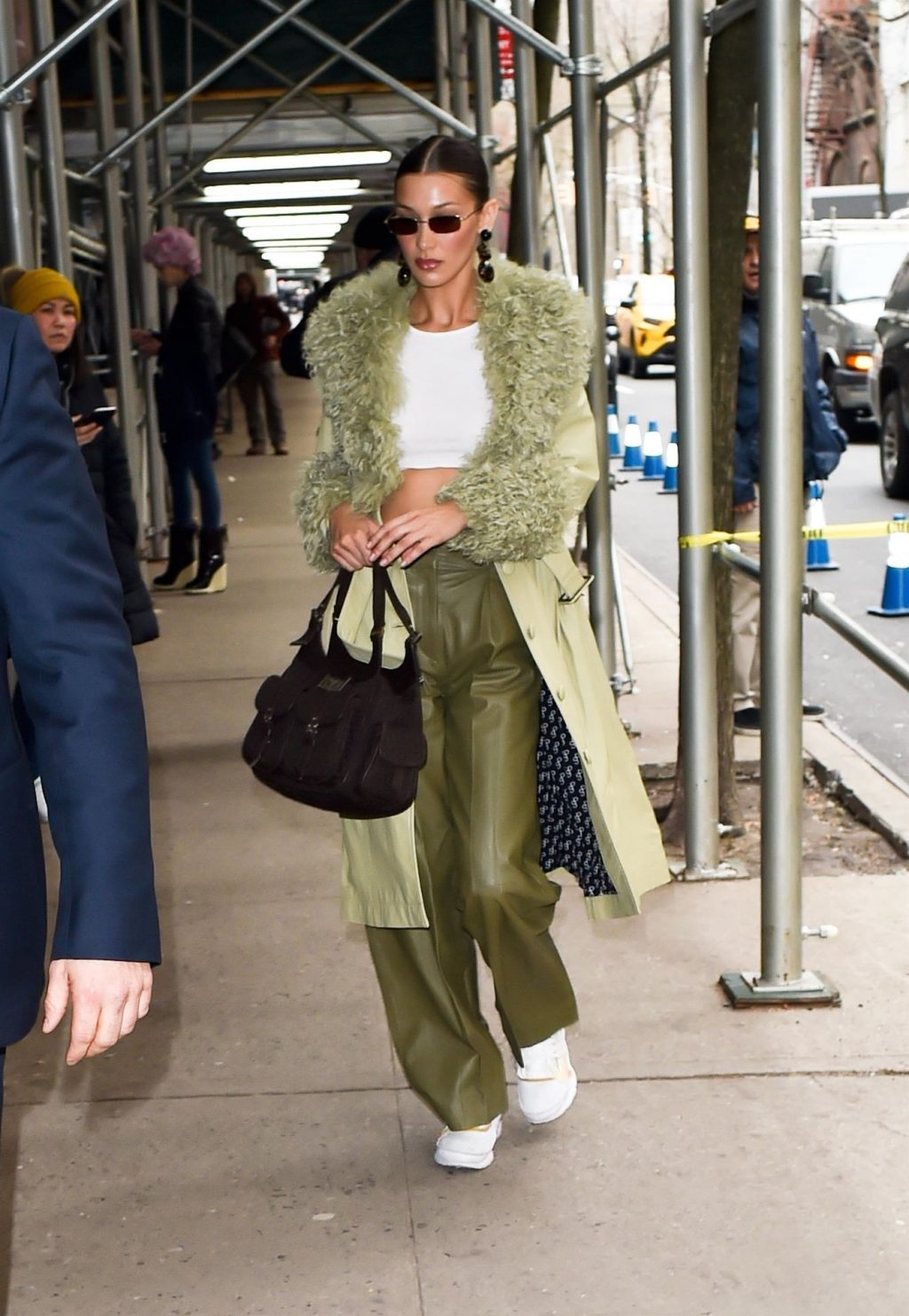 Bella Hadid See through The Fappening Blog 5 1 1024x1483 - Braless Bella Hadid Arrives at the Park Avenue Armory for the Marc Jacobs Fashion Show (59 Photos)
