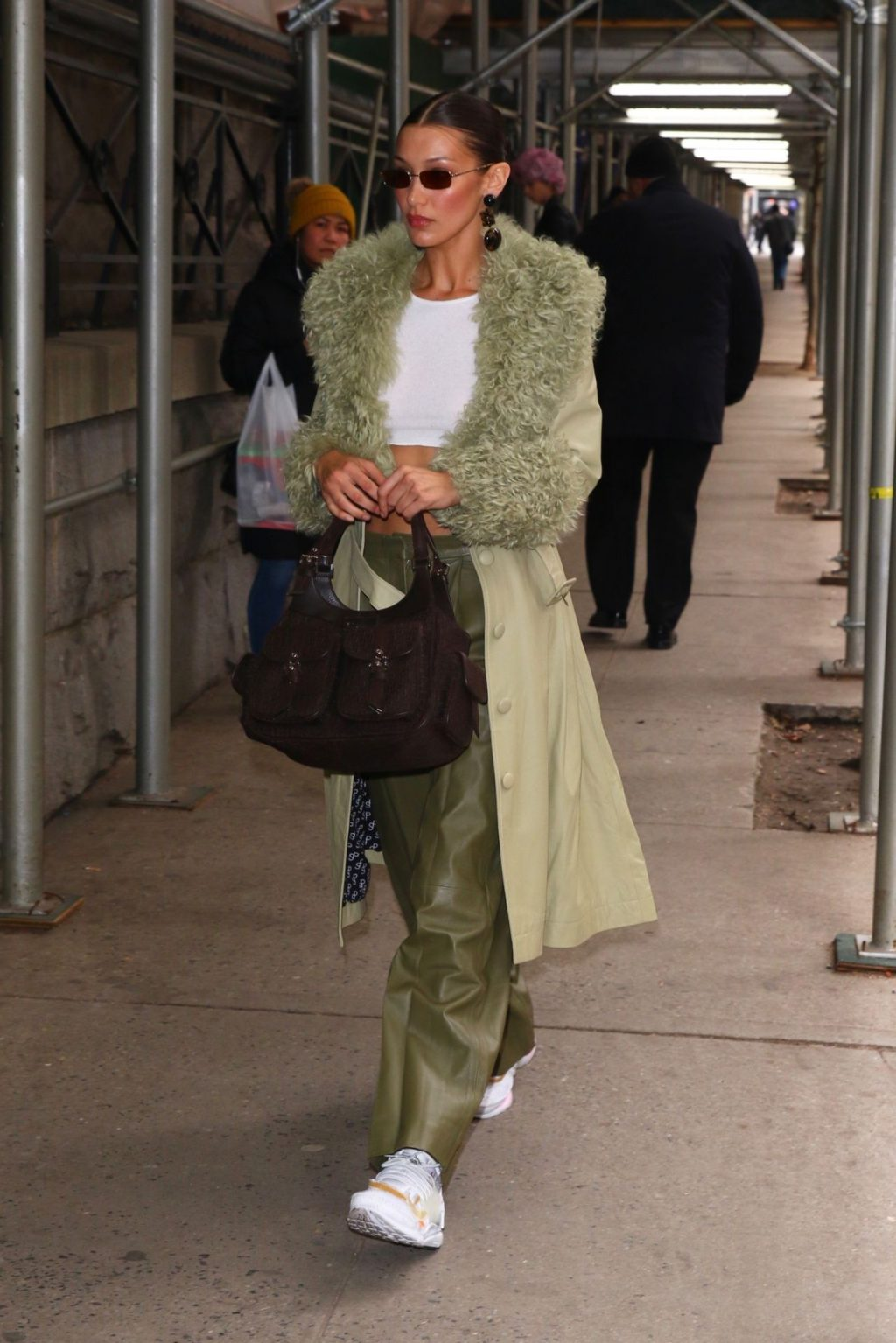 Bella Hadid See through The Fappening Blog 52 1024x1535 - Braless Bella Hadid Arrives at the Park Avenue Armory for the Marc Jacobs Fashion Show (59 Photos)
