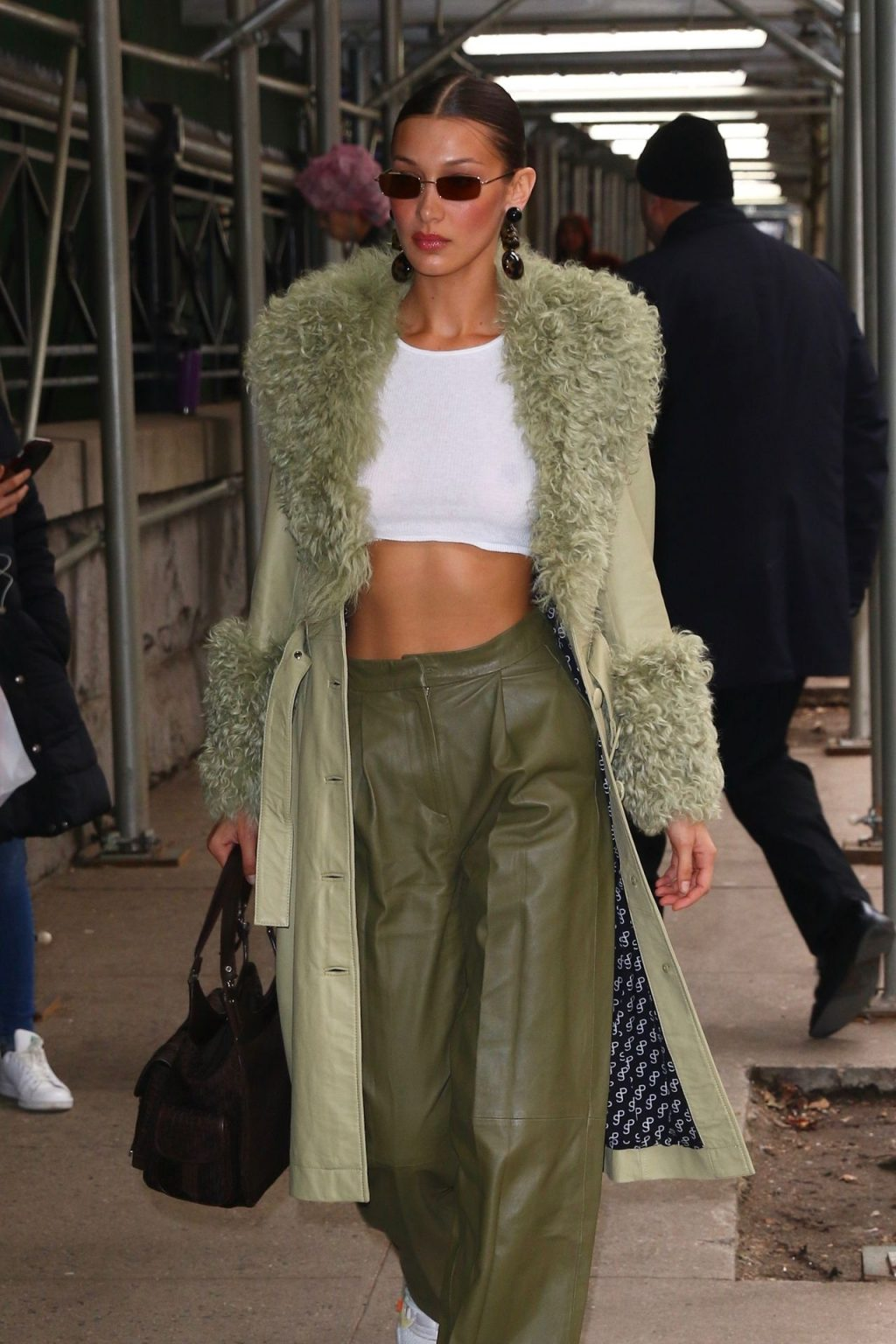 Bella Hadid See through The Fappening Blog 53 1024x1536 - Braless Bella Hadid Arrives at the Park Avenue Armory for the Marc Jacobs Fashion Show (59 Photos)