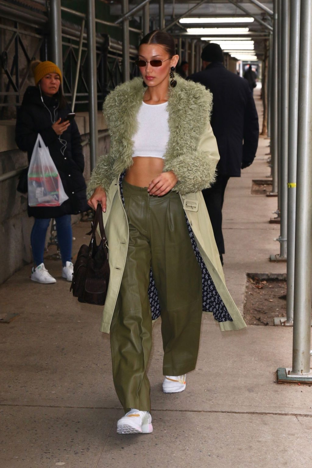 Bella Hadid See through The Fappening Blog 54 1024x1536 - Braless Bella Hadid Arrives at the Park Avenue Armory for the Marc Jacobs Fashion Show (59 Photos)