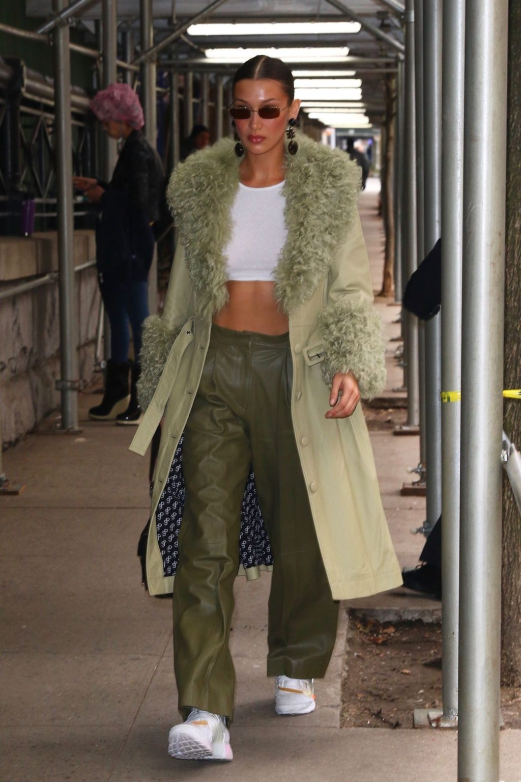 Bella Hadid See through The Fappening Blog 55 1024x1536 - Braless Bella Hadid Arrives at the Park Avenue Armory for the Marc Jacobs Fashion Show (59 Photos)