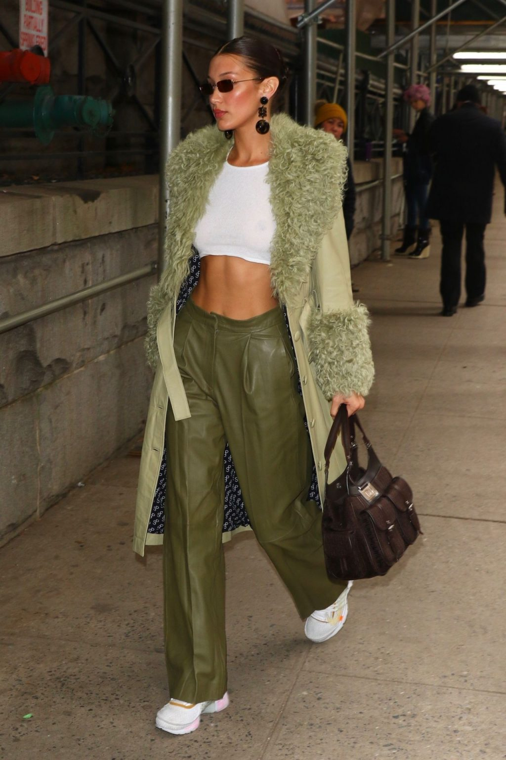 Bella Hadid See through The Fappening Blog 58 1024x1536 - Braless Bella Hadid Arrives at the Park Avenue Armory for the Marc Jacobs Fashion Show (59 Photos)