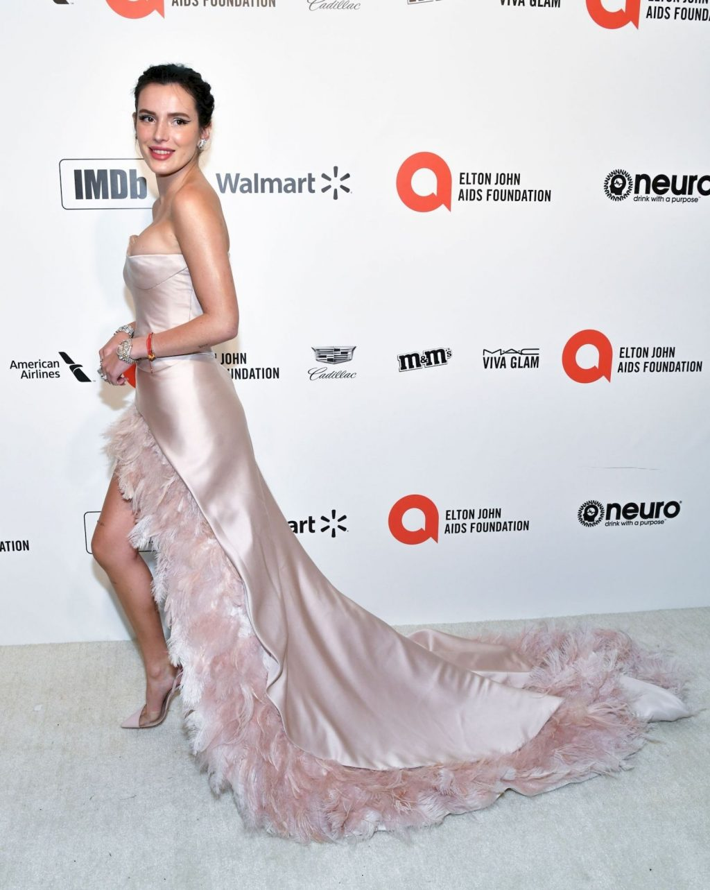 Bella Thorne Shows Off Her Assets at the 28th Annual Elton John AIDS Foundation Party (25 Photos)