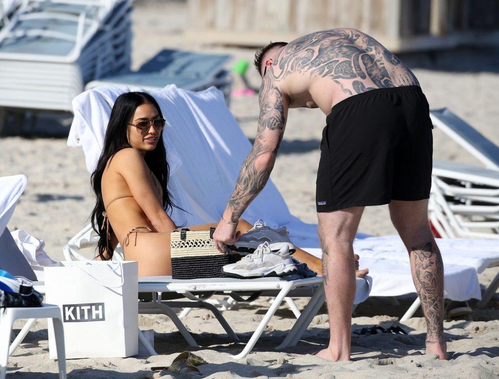 Bre Tiesi Looks Sexy in a Bikini on a Beach in Miami (24 Photos)