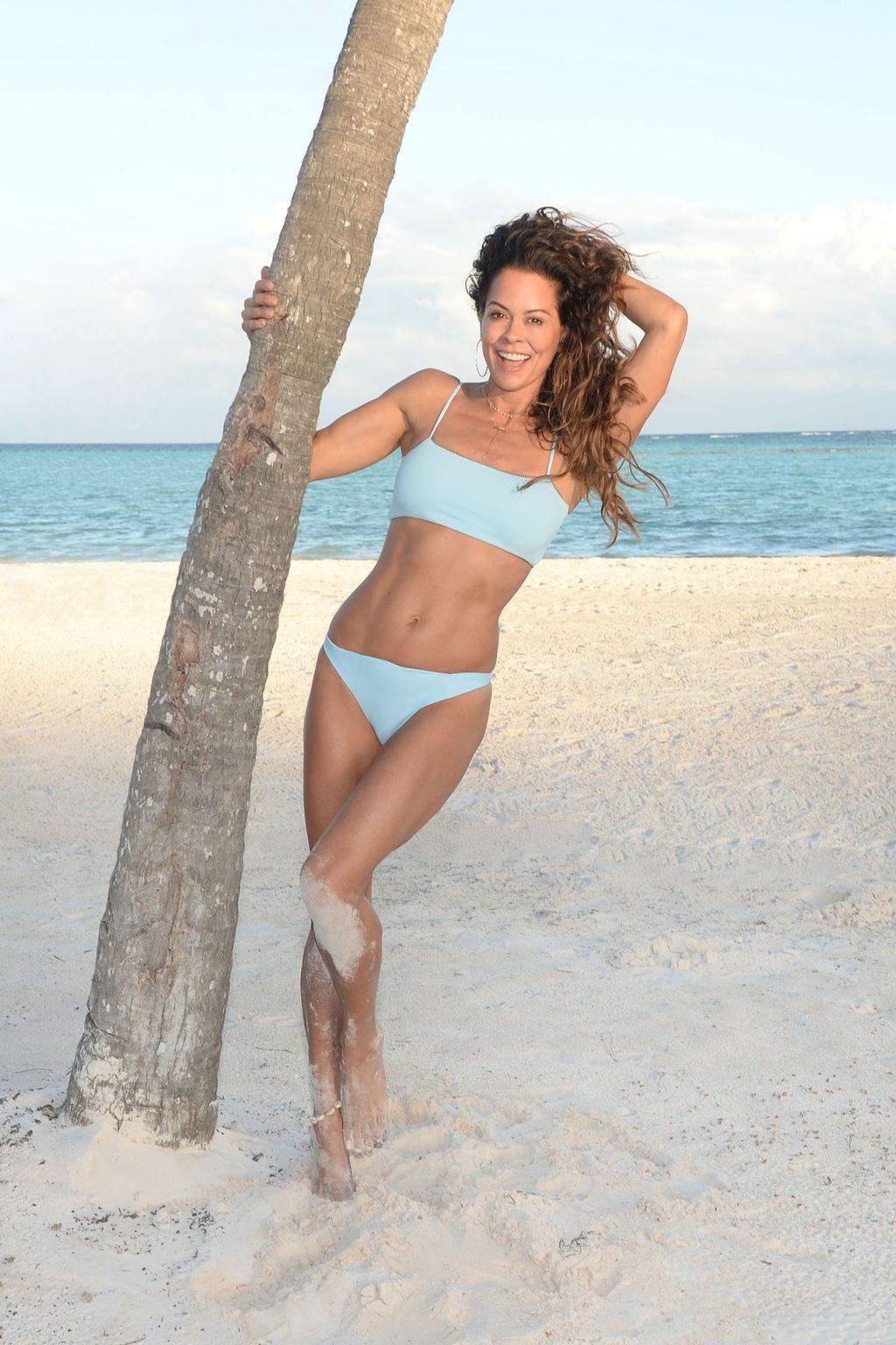 Brooke Burke Poses on the Beach at the Hyatt Zilara (32 Photos)