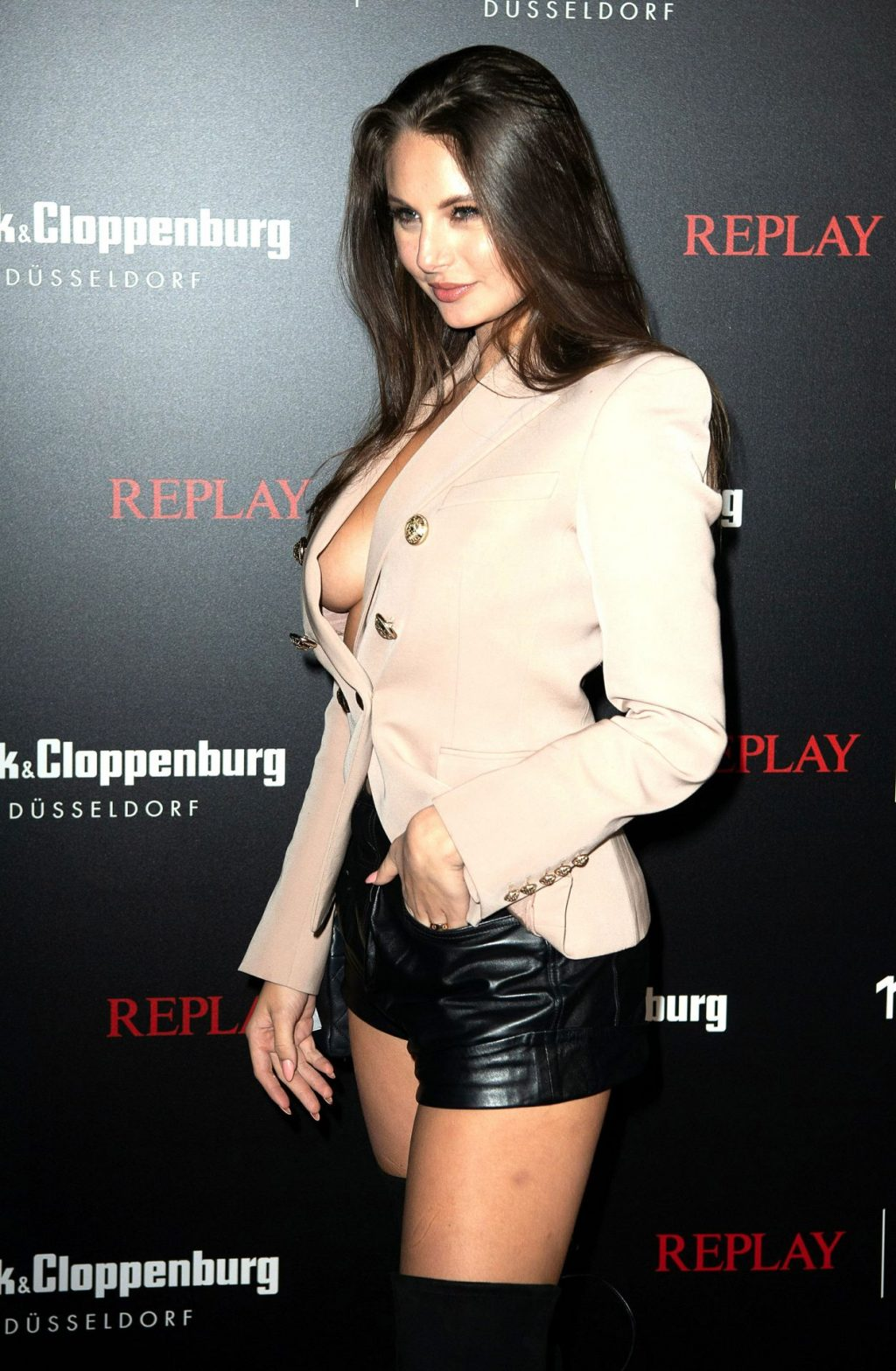 Carina Zavline Displays Her Sideboob at the Replay Jeans VIP Party (11 Photos)